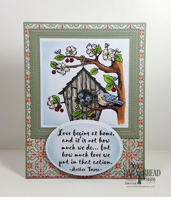 Our Daily Bread Designs Stamp Set: Birdhouse, Our Daily Bread Designs Paper Collection: Cozy Quilt, Our Daily Bread Designs Custom Dies:  Squares, Squares, Pierced Ovals