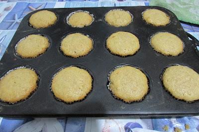 muffinki jabłkowo - cynamonowe po upieczeniu