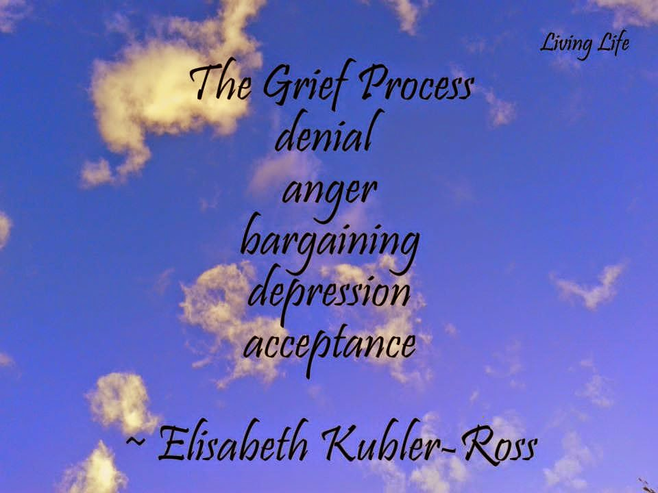 The Grief Process Denial Anger Bargaining Depression Acceptance Quotes