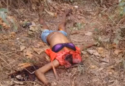 Gory pictures of woman beheaded in Imo