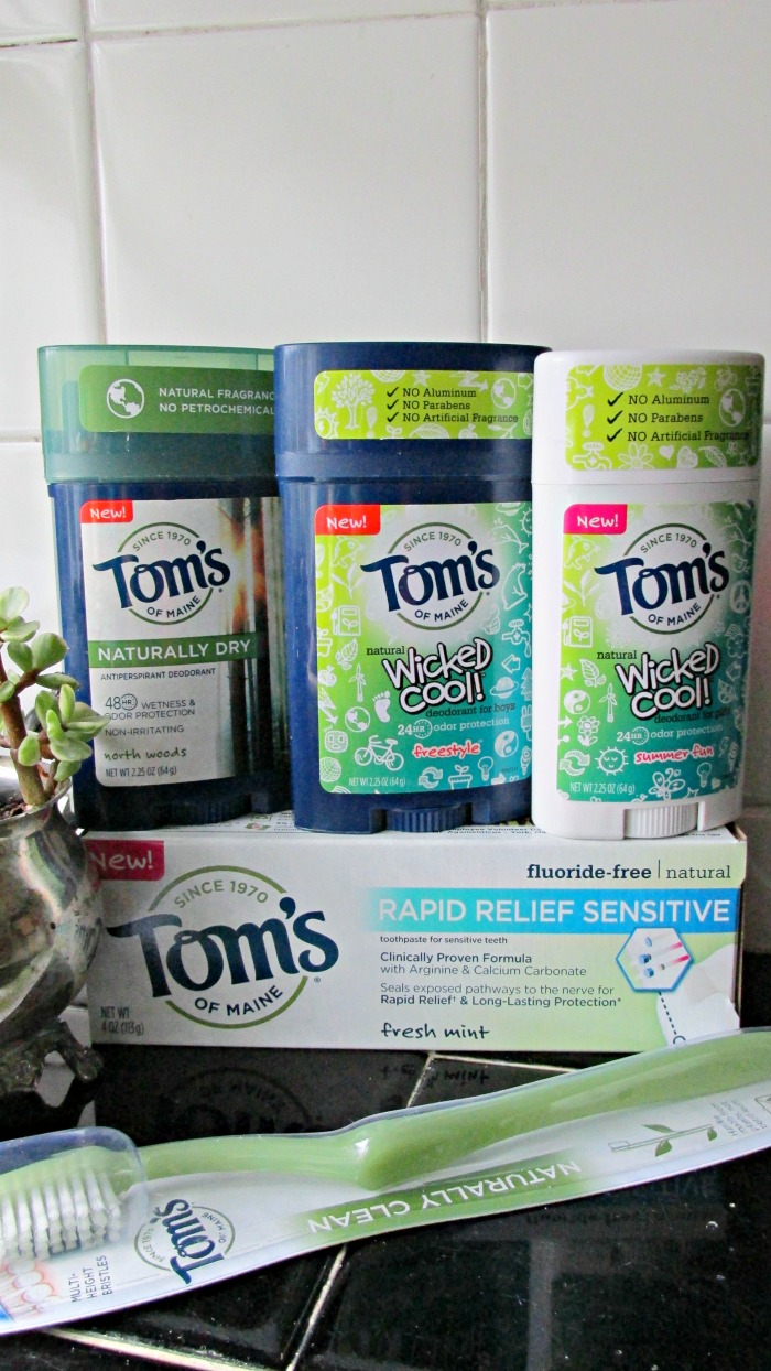 Tom's of Maine makes natural personal care products, like deoderant and toothpaste.