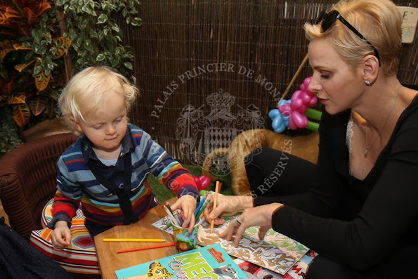 Prince Albert II and Princess Charlene celebrate the 2nd birthday of Crown Prince Jacques and Princess Gabriella with a jungle themed party.