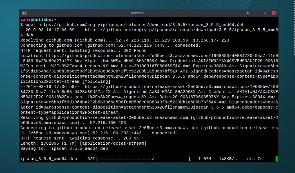 Install AngryIP Scanner 3 5 5 on Ubuntu / Debian 9 / MX