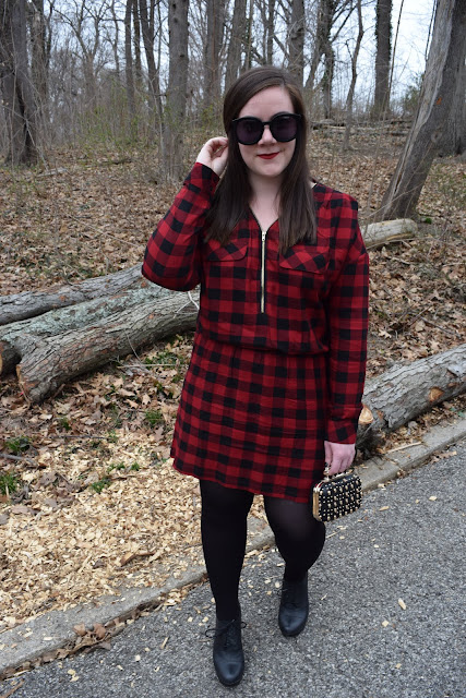 Sequins and Skulls: Gingham Mini Dress