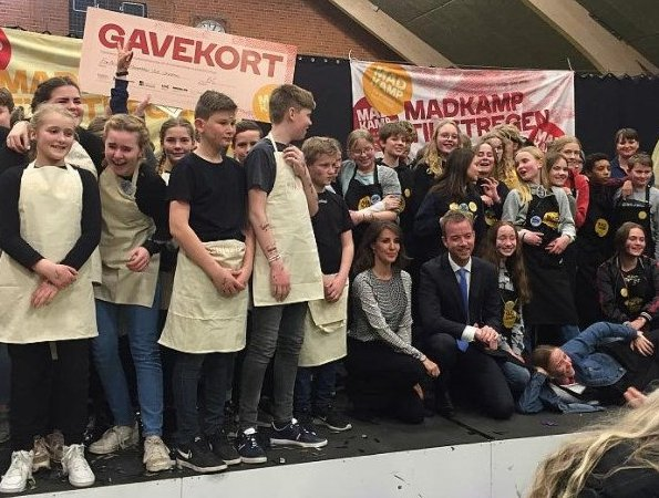 Princess Marie of Denmark attended the 2018 Danish Championship in Food Science (DM i madkundskab 2018) held at Kold College in Odense
