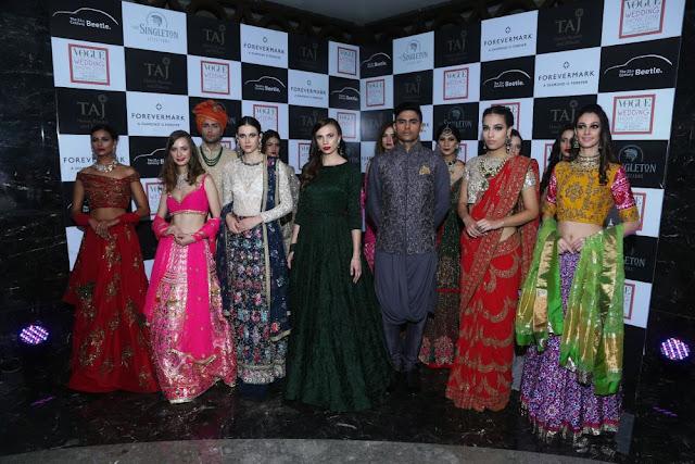 Models showcasing wedding looks at Day 3 of Vogue Wedding Show 2016 at Taj Palace, New Delhi wedding fashion