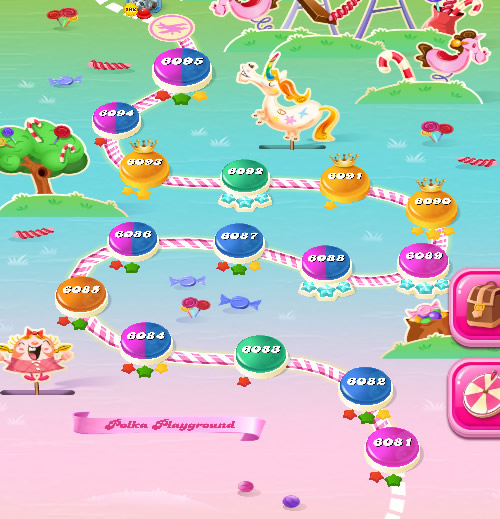 Candy Crush Saga level 6081-6095