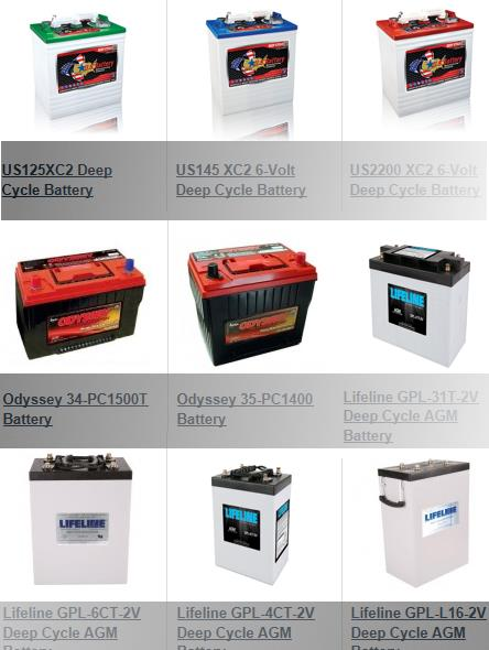 Interstate Other Brand Deep Cycle Battery Prices 2018