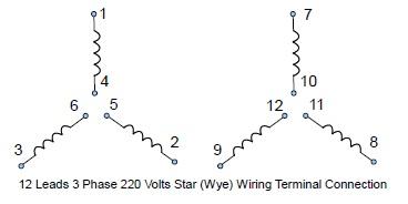 460v 12 lead motor wiring diagram 460v wiring diagrams