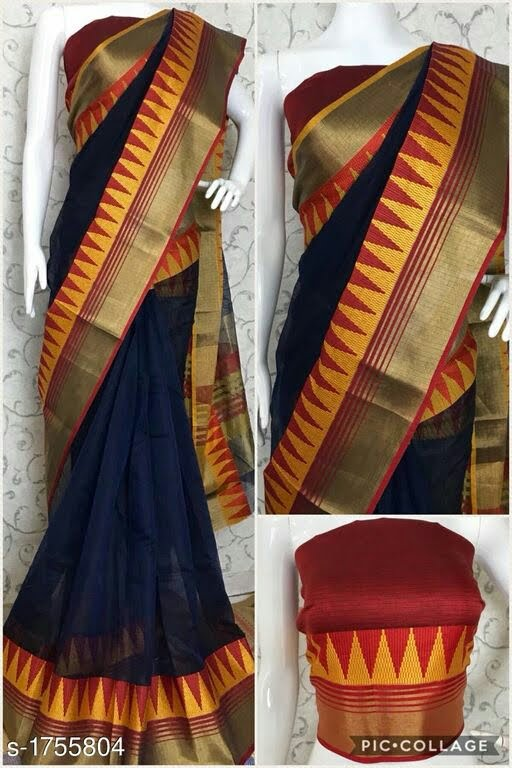 Attractive Kota Silk Border Work Saree