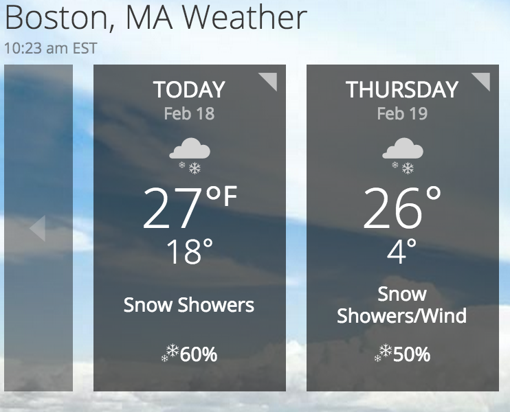 Boston Snow Forecast
