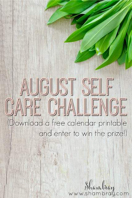august self care challenge