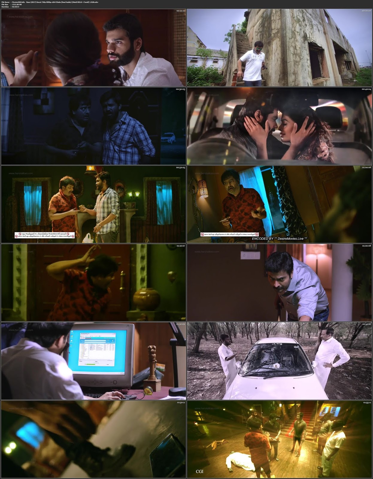 RUM (2017) Dual Audio Hindi Full Movie Tamil 720p 1.5GB
