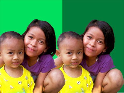 Perbedaan foto sebelum dan sesudah di Mask - Cara Mengganti Background Foto menggunakan Photoshop - Topikramdani.com