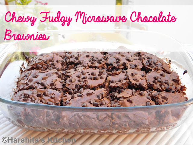 fudgy chocolate brownies in microwave recipe