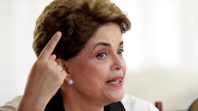 """Rousseff promete una """"fuerte oposición"""" al gobierno de Temer"""