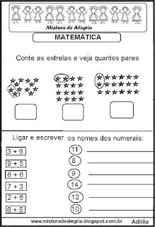 Atividades matemática séries inciais alfabetização