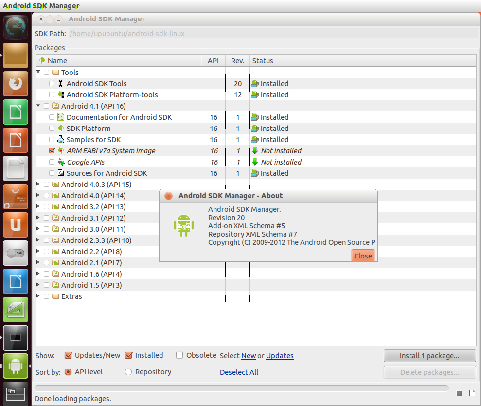 Install Android SDK Manager (Revision 20) From PPA On Ubuntu 12 04
