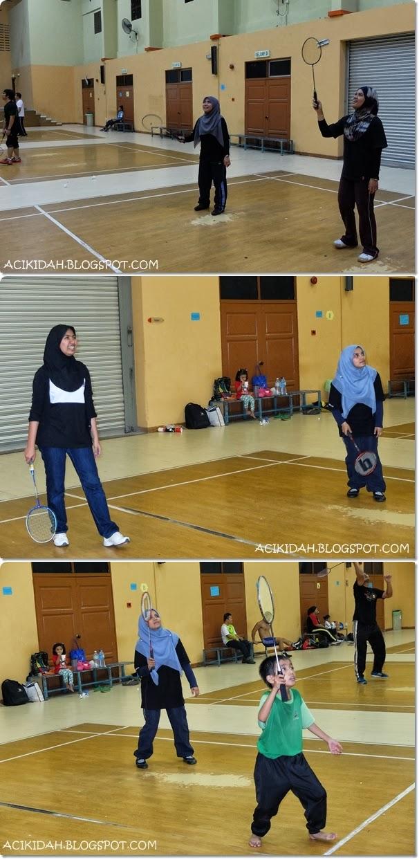 Badminton Lepas Kerja @ Komplek Sukan DBKL Desa Tasik