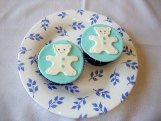 Cupcakes de bebe con ositos