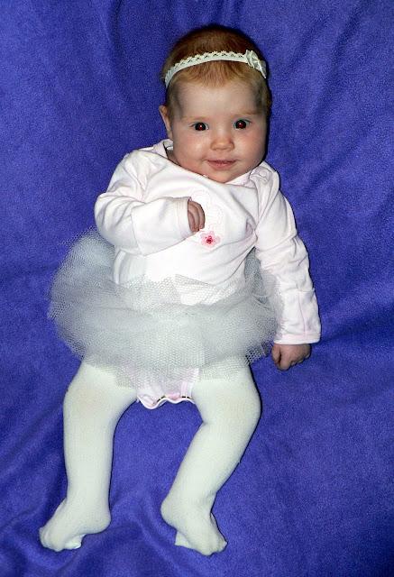 homemade baby ballerina costume