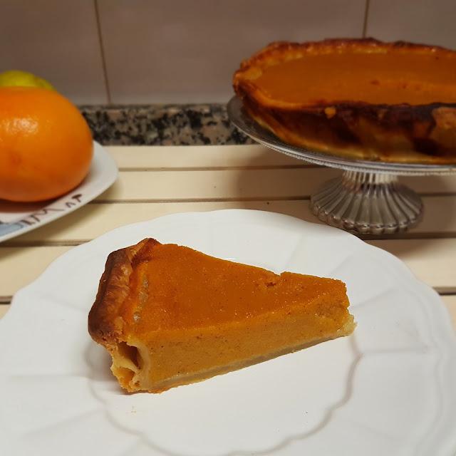 Tarta de calabaza y naranja