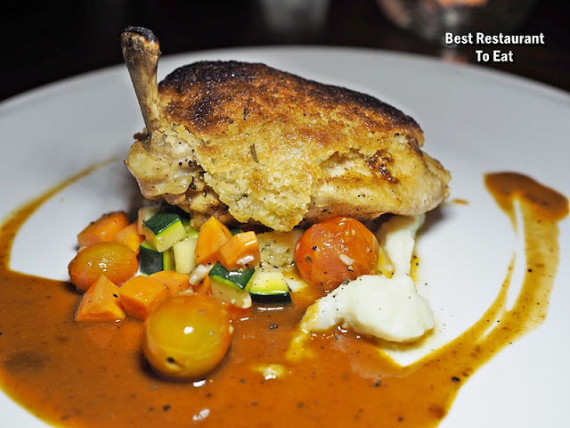 Tuscany Italian Restaurant - Porcini Crusted Chicken Supreme