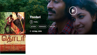 Download Thodari(2016) Dhanush Full Movie in HD Blu-Ray