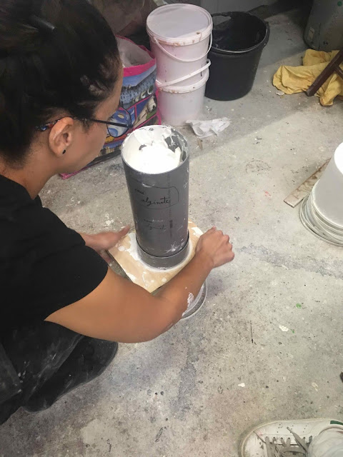 Brigitte Rio, moulage, plâtre, mold, plaster, hand