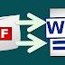 تحويل ملفات ال pdf إلى word بدون برامج