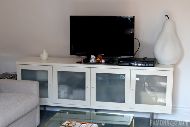 Ikea Bonde white console