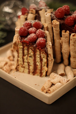 dessert noel , gâteau roulé , bûche chocolat , facile