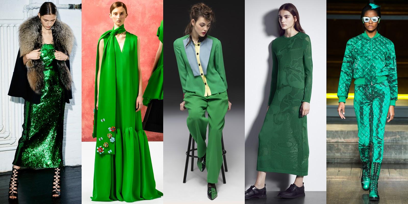 2017 Moda Rengi Yeşil