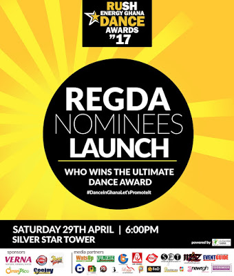 Rush Energy Ghana Dance Awards 2017 Launch & Nominees Announcement Set For April 29
