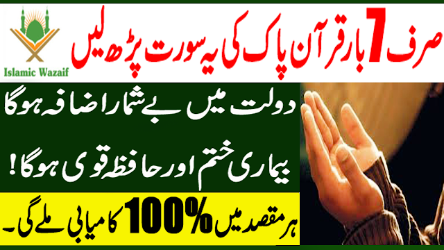 Best Surah For Wealth And Palace/Wazifa Of Sura e Maryam/Dolat Kamany Ki Dua/Islamic Wazaif