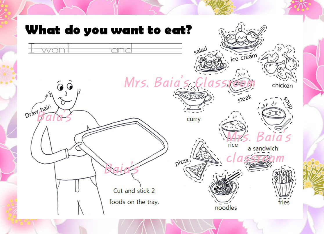 What Do You Want To Eat Grade 4 Lesson Do You Want Pizza Cut And Paste Worksheet Mrs Baia