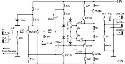 diagram ingram: 100 W Bipolar Power Amplifier