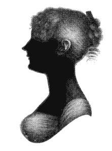 Silhouette of Cassandra Austen
