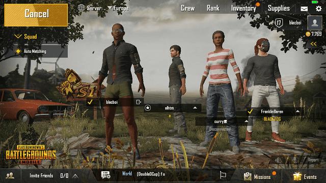 selain bermain solo, pubg juga bisa dimainkan secara tim yang terdiri dari 4 orang (squad)