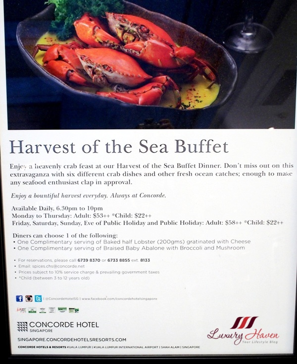 spices cafe harvest of sea buffet dinner review