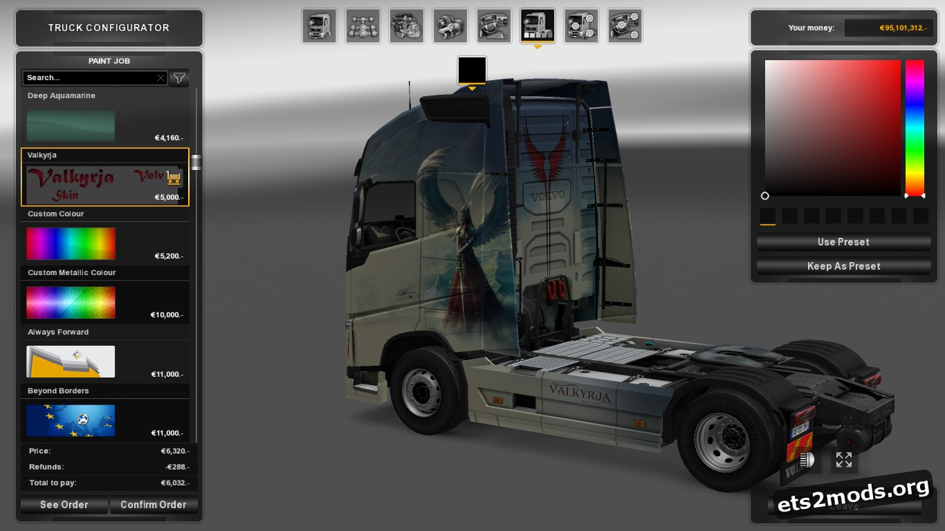 Valkyrie Skin for Volvo 2012