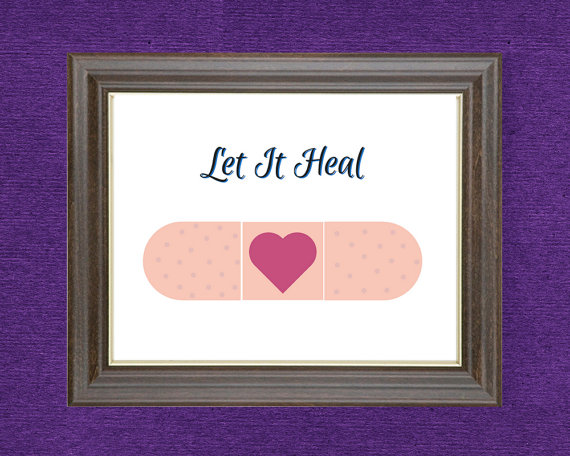 Let It Heal print - Spoonie Gift Guide