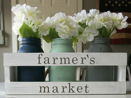 Farmhouse Crate DIY Market Centerpiece by Making Manzanita