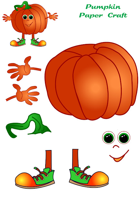 Pumpkin paper craft for kids