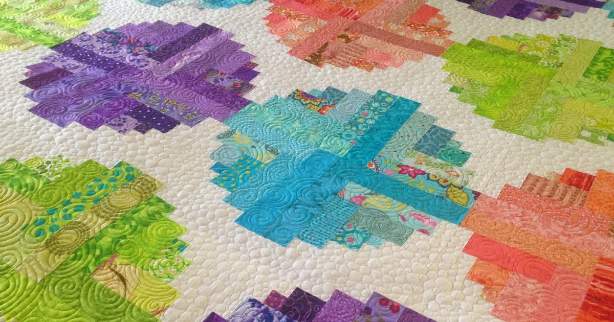 Quilt With Doodlemoochie Log Cabin Beads