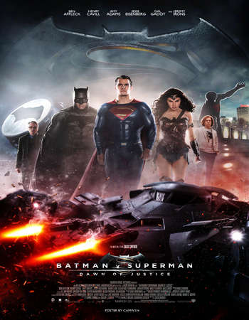 Poster Of Batman v Superman Dawn of Justice 2016 English 550MB BRRip 720p ESubs HEVC - EXTENDED Free Download Watch Online Worldfree4u