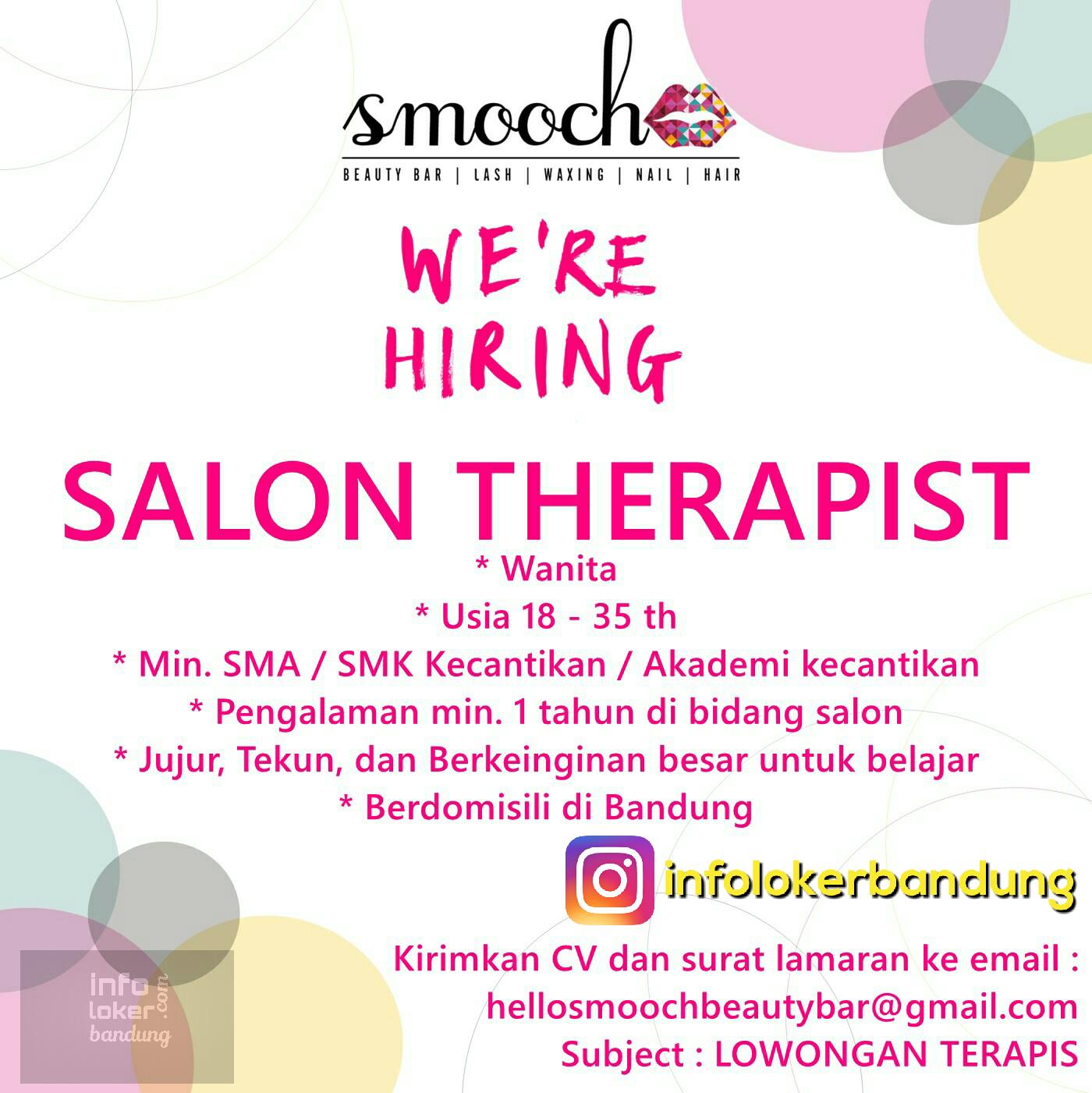 Lowongan Kerja Smooch Beauty Bar Bandung Maret 2017