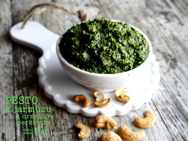 Pesto z jarmużu i orzechów nerkowca - Czytaj więcej »