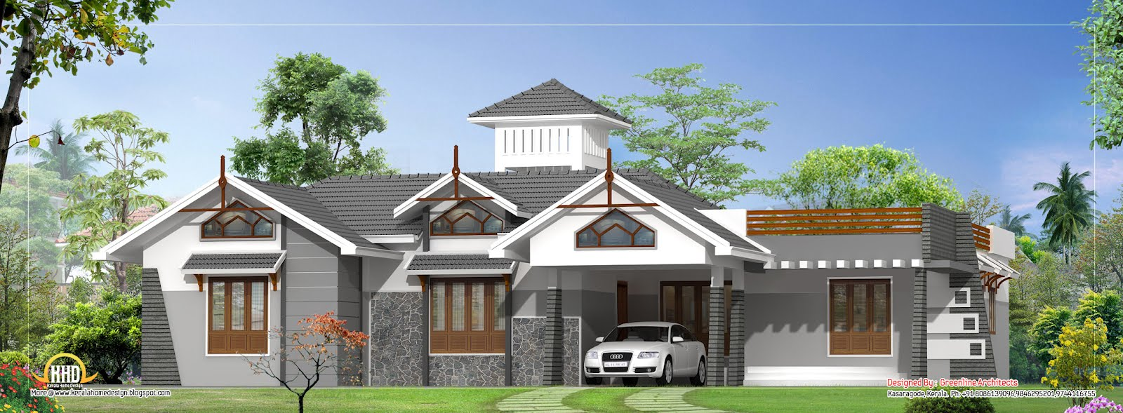 Dd08antonio design home single floor house plan 2630 sq for 3000 sq ft house plans kerala