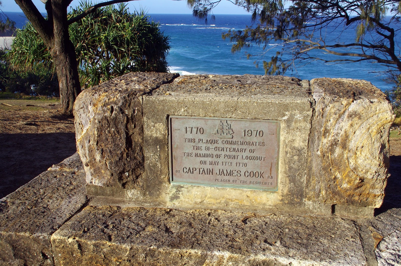 Captain Cook plarke Point Lookout Stradbroke Island